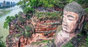 بزرگ ترین مجسمه سنگی بودا در دنیا لشان چین